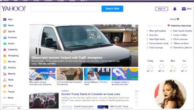 Yahoo dnes