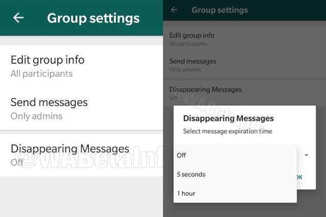 WhatsApp mizící zprávy