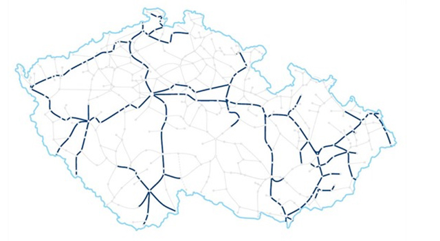 Předpokládaný rozsah provozu vlaků ČD s Wi-Fi v průběhu roku 201