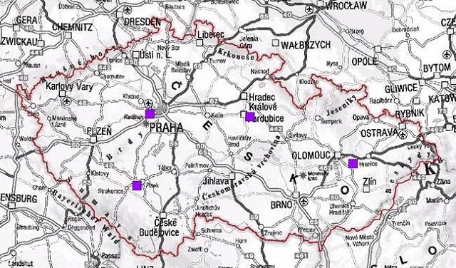 mapa vysílačů