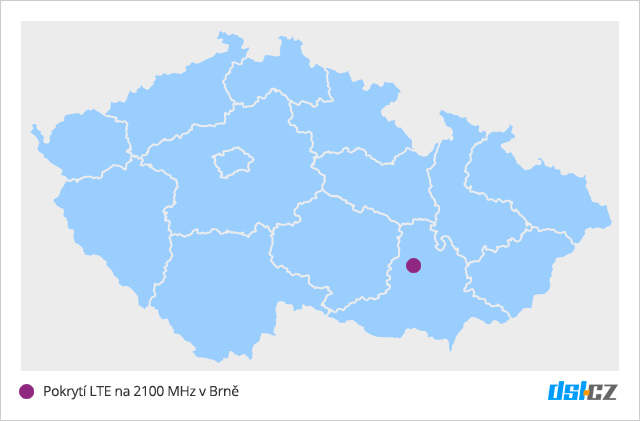 T-Mobile pokrývá LTE 2100 MHz v Brně