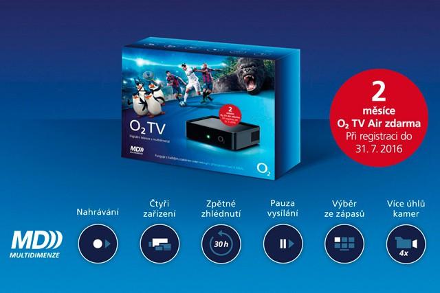 O2 TV na 2 měsíce zdarma