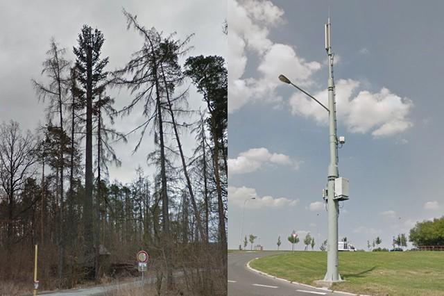 Není to strom ani obyčejná lampa, ale vysílač