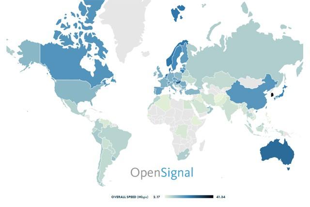 Kde na světě je nejrychlejší mobilní připojení?
