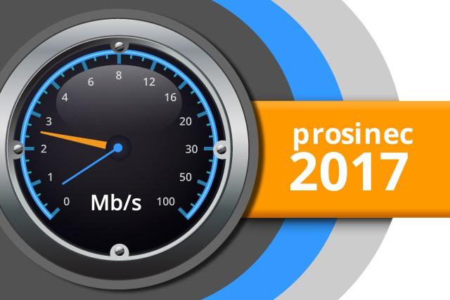 Naměřené rychlosti internetu na DSL.cz v prosinci 2017
