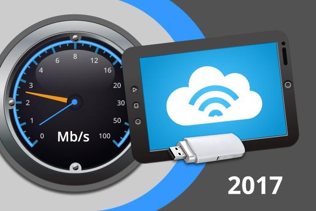Rychlosti mobilního internetu na DSL.cz v roce 2017