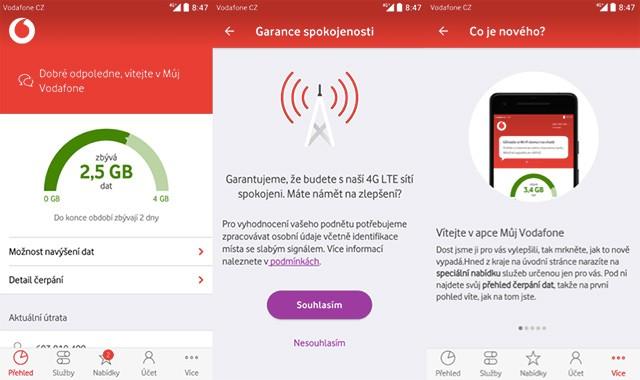 Aplikace Můj Vodafone prošla změnami a rozdává dárky
