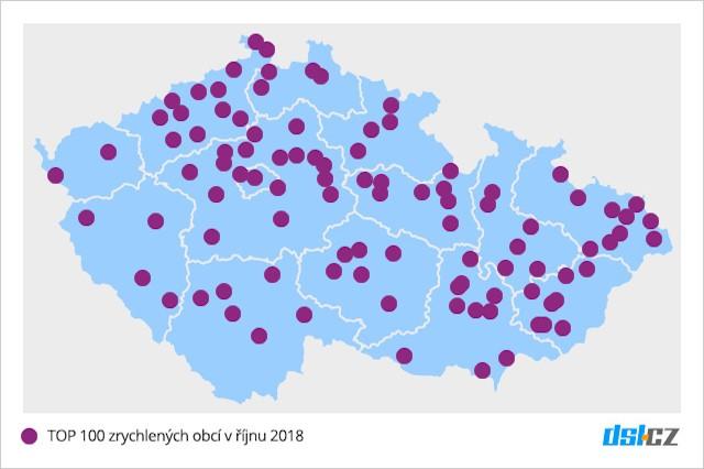 Víme, kde v říjnu 2018 došlo ke zrychlení DSL připojení