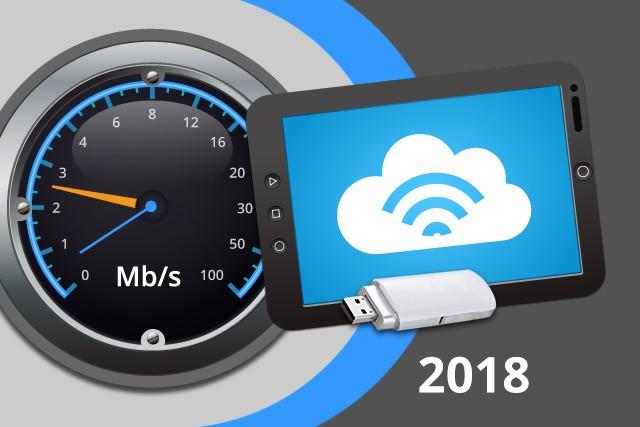 Rychlosti mobilního internetu na DSL.cz v roce 2018