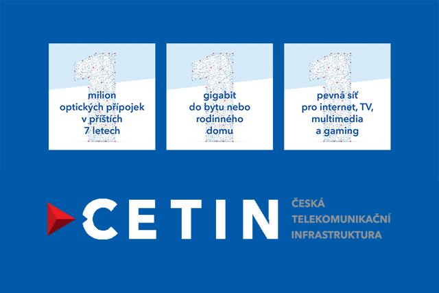 CETIN vytvoří milion gigabitových přípojek
