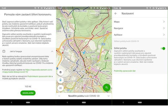 Mapy.cz upozorní uživatele na možnost nákazy koronavirem