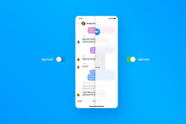 Messenger nově nabízí zabezpečení otiskem prstu nebo obličejem