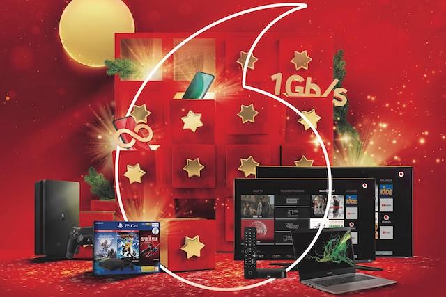 Vánoční nabídka od Vodafonu? Pevný internet a neomezená data zdarma