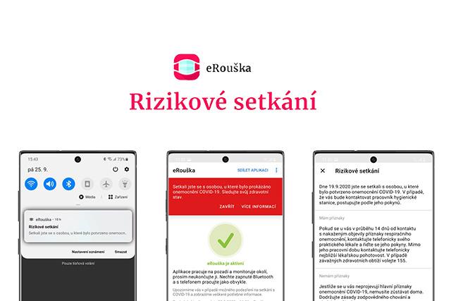 eRouška rozeslala od září přes 200 000 upozornění na riziková setkání
