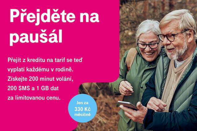 Tarif za 330 Kč: T-Mobile láká zákazníky k přechodu z kreditu na paušál