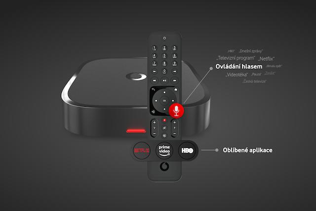 Vodafone představil nový set-top box: Přibyly další funkce i ovládání hlasem