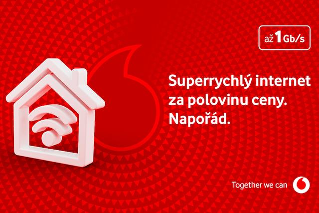 Vodafone Internet s 50% slevou napořád si objednaly desetitisíce lidí