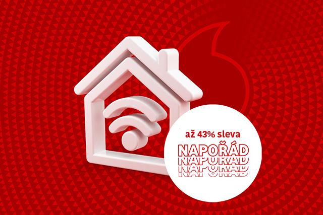 Vodafone prodloužil slevu napořád na pevný internet