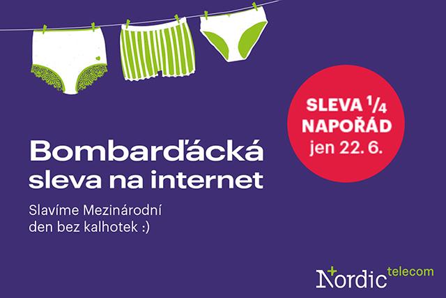 Bombarďácká akce od Nordic Telecom: Sleva ¼ napořád