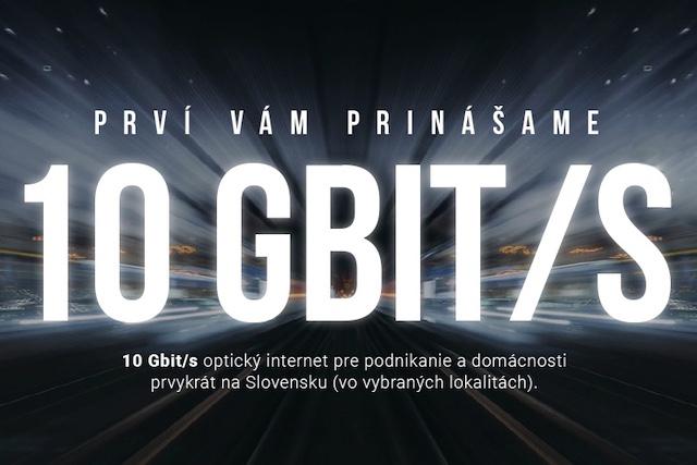 Slovenský Antik Telecom začal nabízet internet s rychlostí 10 Gb/s