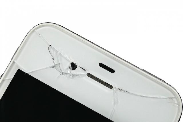 Zničený telefon