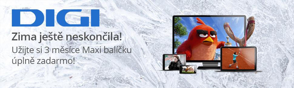 Akce zima 2019: Digi TV 3 měsíce zdarma v plné palbě!