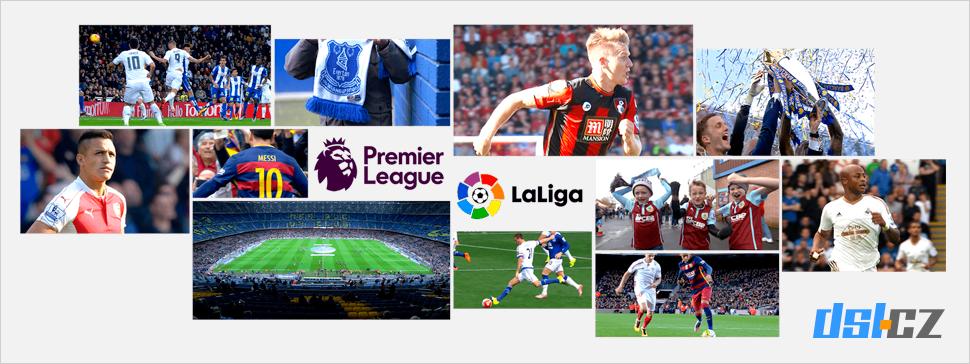Digi TV sportovní obsah - Premiere League, LaLiga