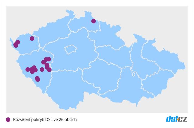 Zrychlování DSL v září v Karlovarském, Plzeňském a Libereckém kraji
