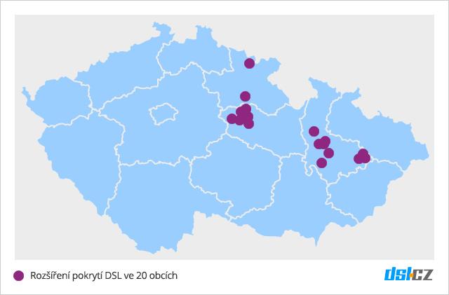 Zrychlování DSL v září v Královéhradeckém, Olomouckém a Pardubickém kraji