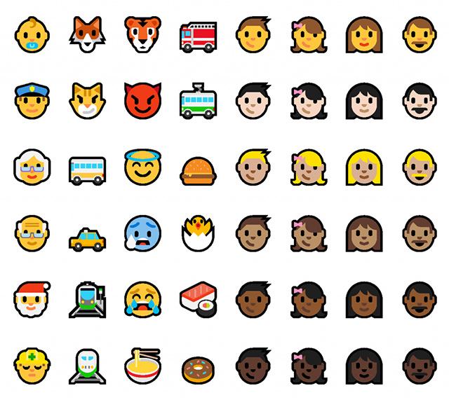 Nové emotikony pro Windows 10