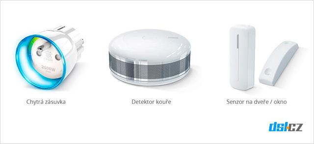 Chytrá zásuvka, kouřový senzor, dveřní senzor od Fibaro