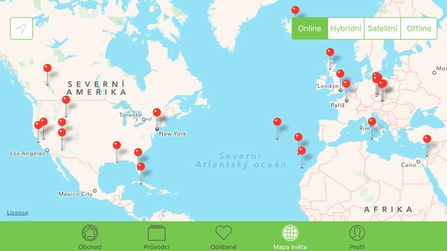 Fripito - aktuální mapa dostupných průvodců