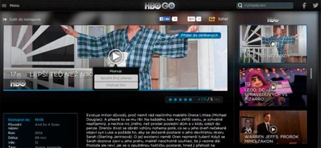 HBO GO živé vysílání