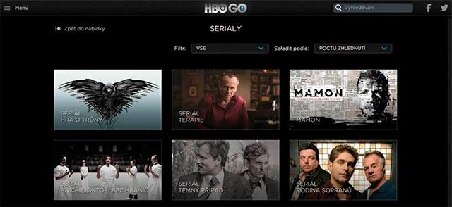 HBO GO přehled seriálů