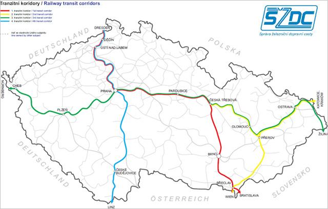 Pokrytí signálu ve vlakovvých koridorech