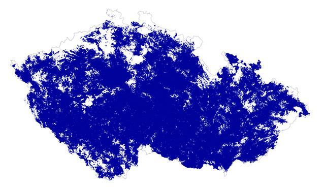 Aktuální mapa pokrytí LTE Internetem od O2