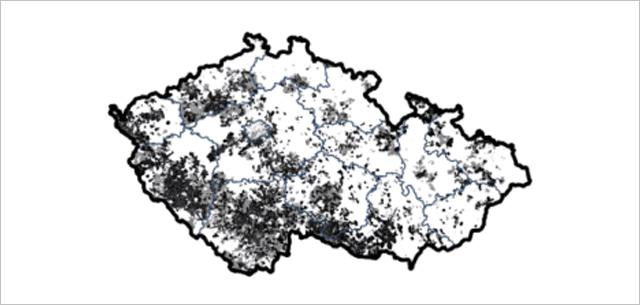 mapa pokrytí vysokorychlostním internetem