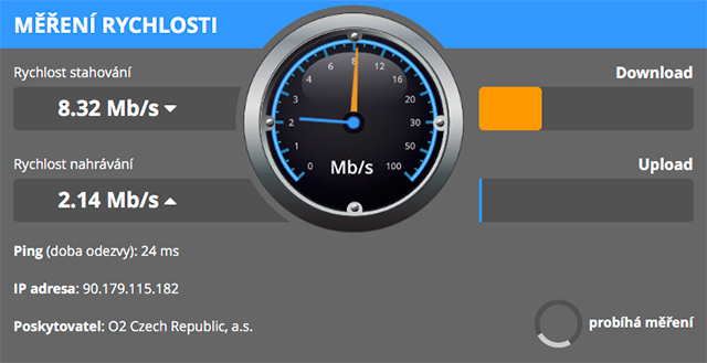 Měření rychlosti DSL.cz