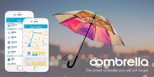 Oombrella - chytrý deštník budoucnosti