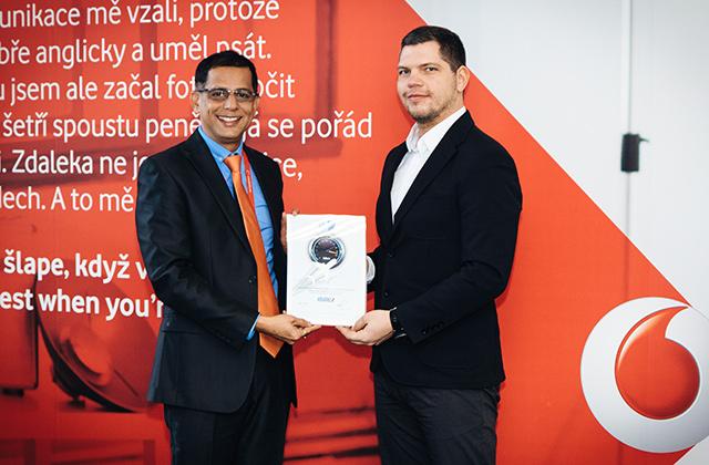 Předání ocenění Vodafonu za rok 2016