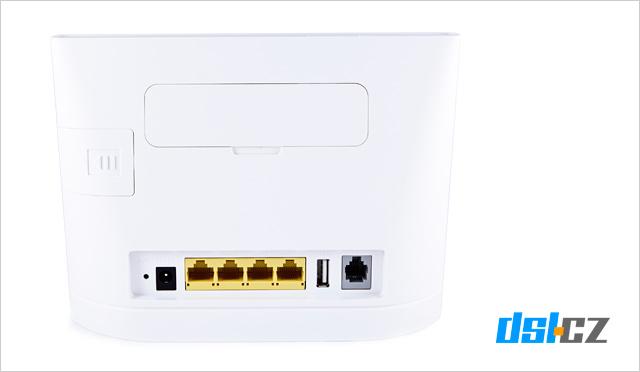 O2 Internet Optimal Air: zadní strana modemu Huawei B315