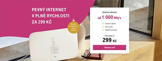 T-Mobile pevný internet za 299 Kč