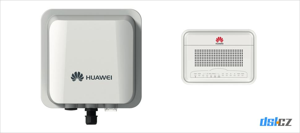 Modem Huawei B2338-168 - venkovní a vnitřní jednotka