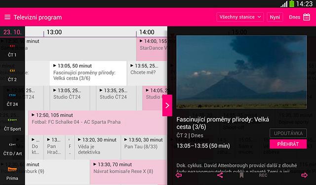 Mobilní TV od T-Mobile - televizní program
