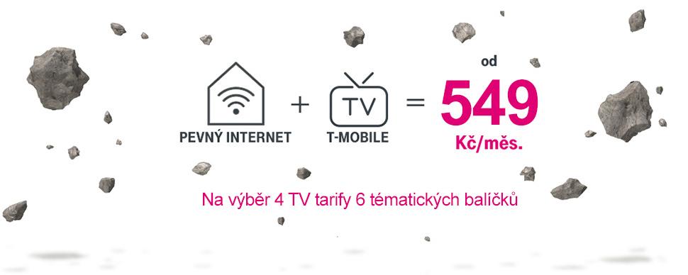 T-Mobile Internet + TV za 549 Kč