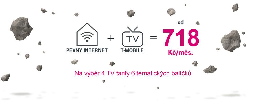 T-Mobile Internet + TV za 718 Kč