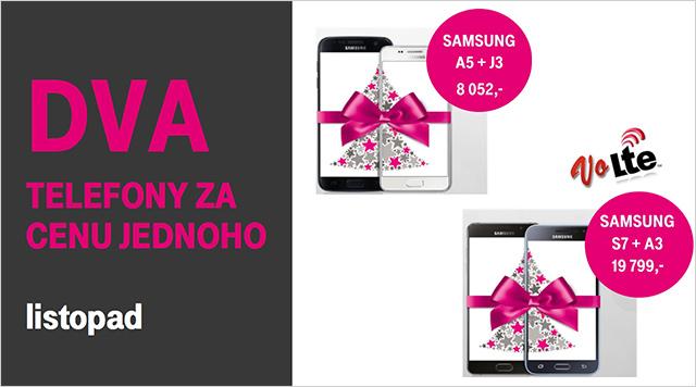 T-Mobile vánoční nabídka - dva telefony za cenu jednoho