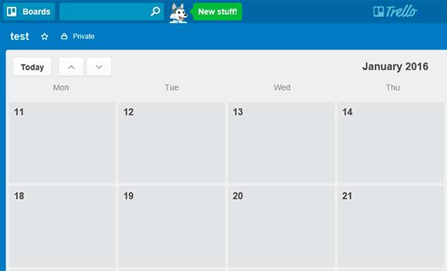 Trello - kalendář úkolů