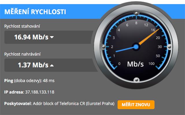Webové měření na DSL.cz
