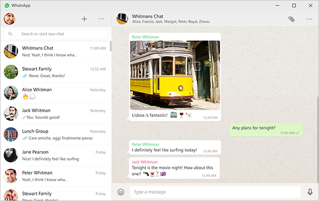 aplikace Whatsapp na desktopu